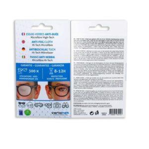 Essuie-verres Anti-Buée VARIONET 15x18cm Efficace 12h et 300 utilisations – chiffon microfibre chamoisine